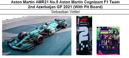 ◎予約品◎ Aston Martin AMR21 No.5 Aston Martin Cognizant F1 Team 2nd Azerbaijan GP 2021 (With Pit Board) S.ベッテル