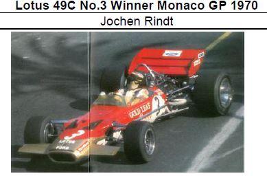 ◎予約品◎ 1/18Lotus 49C No.3 Winner Monaco GP 1970 Jochen Rindt
