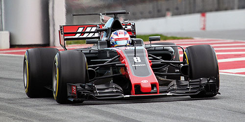 ◆HAAS F1 チーム フェラーリ VF-17 ロマン・グロージャン 2017