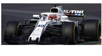 ◎予約品◎1/18 ウィリアムズ マルティニ レーシング メルセデス FW41 ロバート・クビサ スペインGP  フリー プラクティス 2018