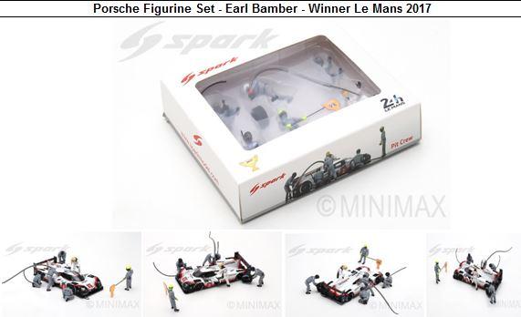 ◎予約品◎ Porsche Figurine Set - Earl Bamber - Winner Le Mans 2017