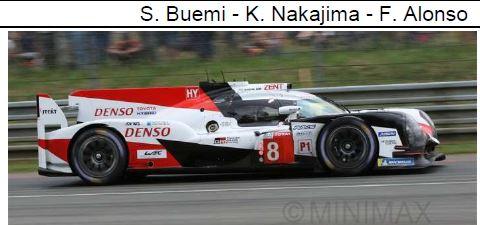 ◎予約品◎ TOYOTA TS050 HYBRID No.8 TOYOTA GAZOO Racing Winner 24H Le Mans 2018 S. Buemi - 中嶋 一貴 - F. Alonso