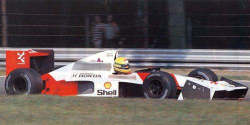 ◆マクラーレン ホンダ MP4/5B アイルトン・セナ エレベーテッド ノーズ コーン  テストカー モンツァ 1990