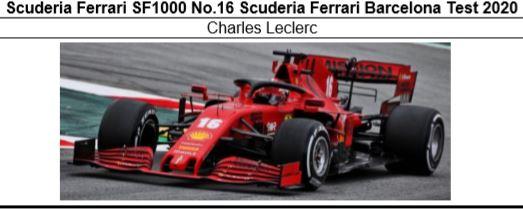 ◎予約品◎1/18 Scuderia Ferrari SF1000 No.5 Scuderia Ferrari Barcelona Test 2020 C.ルクレール