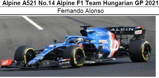 ◎予約品◎ Alpine A521 No.14 Alpine F1 Team Hungarian GP 2021 F.アロンソ