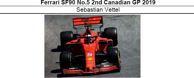 ◎予約品◎1/18 Ferrari SF90 No.5 2nd Canadian GP 2019 S.ベッテル