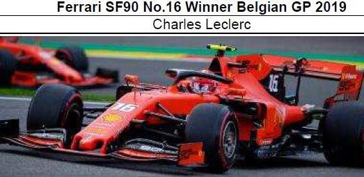 ◎予約品◎1/18 フェラーリ SF90 No.16 Winner Belgian GP 2019 C.ルクレール