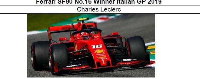 ◎予約品◎ Ferrari SF90 No.16 Winner Italian GP 2019 C.ルクレール