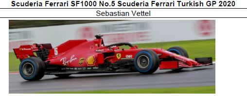 ◎予約品◎ Scuderia Ferrari SF1000 No.5 Scuderia Ferrari Turkish GP 2020 S.ベッテル