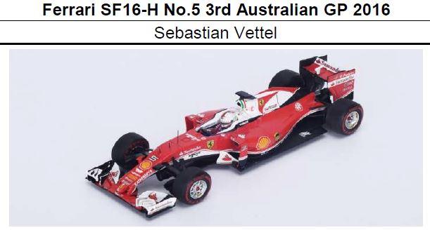 ◆Ferrari SF16-H No.5 3rd Australian GP 2016  S.ベッテル