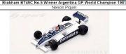 ◎予約品◎1/18 Brabham BT49C No.5 Winner Argentina GP World Champion 1981 Nelson Piquet