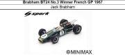 ◎予約品◎1/18  Brabham BT24 No.3 Winner French GP 1967 Jack Brabham