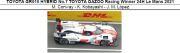◎予約品◎ TOYOTA GR010 HYBRID No.7 TOYOTA GAZOO Racing Winner 24H Le Mans 2021  M. Conway - K. Kobayashi - J. M. Lopez