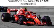 ◎予約品◎フェラーリ SF71H No.7 Winner US GP 2018   K.ライコネン