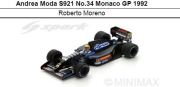 ◆アンドレアモーダ S921 No.34 モナコ GP 1992  R.モレノ