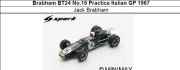 ◎予約品◎ Brabham BT24 No.16 Practice Italian GP 1967 Jack Brabham