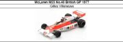 ◎予約品◎ McLaren M23 No.40 British GP 1977 Gilles Villeneuve