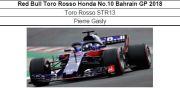 ◎予約品◎ Red Bull Toro Rosso Honda No.10 Bahrain GP 2018  Toro Rosso STR13  Pierre Gasly