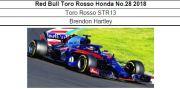 ◎予約品◎ Red Bull Toro Rosso Honda No.28 2018  Toro Rosso STR13  Brendon Hartley  (GP未定)
