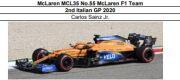 ◎予約品◎ McLaren MCL35 No.55  2nd Italian GP 2020  Carlos Sainz Jr.