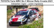 ◎予約品◎ TOYOTA Yaris WRC No.1 Winner Rally Croatia 2021 Sebastien Ogier - Julien Ingrassia
