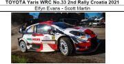 ◎予約品◎ TOYOTA Yaris WRC No.33 2nd Rally Croatia 2021 Elfyn Evans - Scott Martin