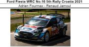 ◎予約品◎ Ford Fiesta WRC No.16 5th Rally Croatia 2021 Adrien Fourmax - Renaud Jamoul