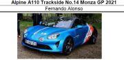 ◎予約品◎ Alpine A110 Trackside No.14 Monza GP 2021 F.アロンソ