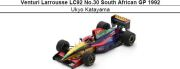 ◎予約品◎ Venturi Larrousse LC92 No.30 South African GP 1992 片山右京