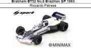 ◎予約品◎ Brabham BT52 No.6 Brazilian GP 1983 Riccardo Patrese