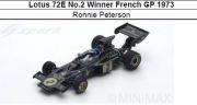 ◎予約品◎ Lotus 72E No.2 Winner French GP 1973  Ronnie Peterson