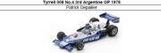 ◎予約品◎ Tyrrell 008 No.4 3rd Argentine GP 1978 Patrick Depailler