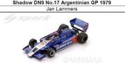 ◎予約品◎ Shadow DN9 No.17 Argentinian GP 1979  Jan Lammers