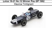◎予約品◎Lotus 18-21 No.12 Winner Pau GP 1962 Maurice Trintignant
