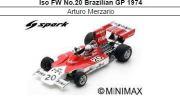 ◎予約品◎ Iso FW No.20 Brazilian GP 1974  Arturo Merzario