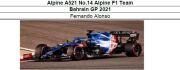 ◎予約品◎ 1/18Alpine A521 No.14 Alpine F1 Team Bahrain GP 2021   F.アロンソ