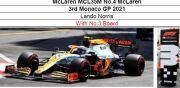 ◎予約品◎ McLaren MCL35M No.4 McLaren 3rd Monaco GP 2021 L.ノリス  With No.3 Board