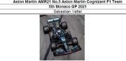 ◎予約品◎ Aston Martin AMR21 No.5 Aston Martin Cognizant F1 Team 5th Monaco GP 2021 S.ベッテル