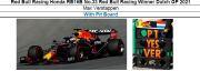 ◎予約品◎1/18 Red Bull Racing Honda RB16B No.33 Red Bull Racing Winner Dutch GP 2021 Max Verstappen   With Pit Board