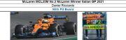 ◎予約品◎1/18 McLaren MCL35M No.3 McLaren Winner Italian GP 2021 Daniel Ricciardo   With Pit Board
