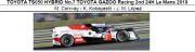 ◎予約品◎ TOYOTA TS050 HYBRID No.7 TOYOTA GAZOO Racing 2nd 24H Le Mans 2019  M. Conway - K. Kobayashi - J. M. Lopez