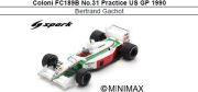 ◎予約品◎ Coloni FC189B No.31 Practice US GP 1990  Bertrand Gachot