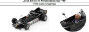 ◆Lotus 88 No.11 Presentation Car 1981 With Colin Chapman