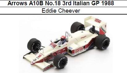 ◎予約品◎Arrows A10B No.18 3rd Italian GP 1988 Eddie Cheever