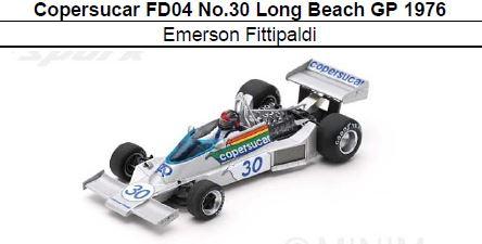 ◎予約品◎ Copersucar FD04 No.30 Long Beach GP 1976  Emerson Fittipaldi