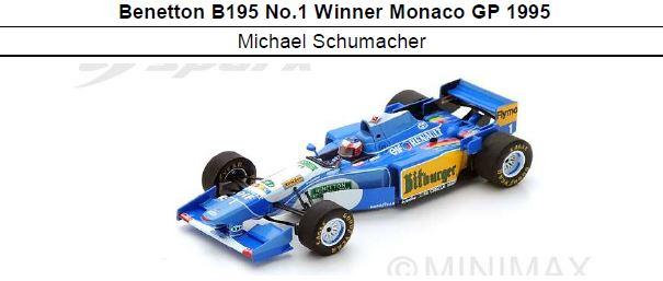 ◆ベネトン B195 No.1 Winner Monaco GP 1995  M.シューマッハ