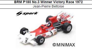 ◎予約品◎ BRM P180 No.3 Winner Victory Race 1972 Jean-Pierre Beltoise