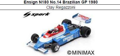 ◎予約品◎ Ensign N180 No.14 Brazilian GP 1980 Clay Regazzoni