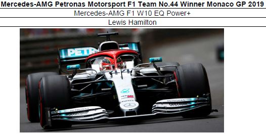 ◎予約品◎ Mercedes-AMG Petronas Motorsport F1 Team No.44 Winner Monaco GP 2019  W10 EQ Power+ L.ハミルトン