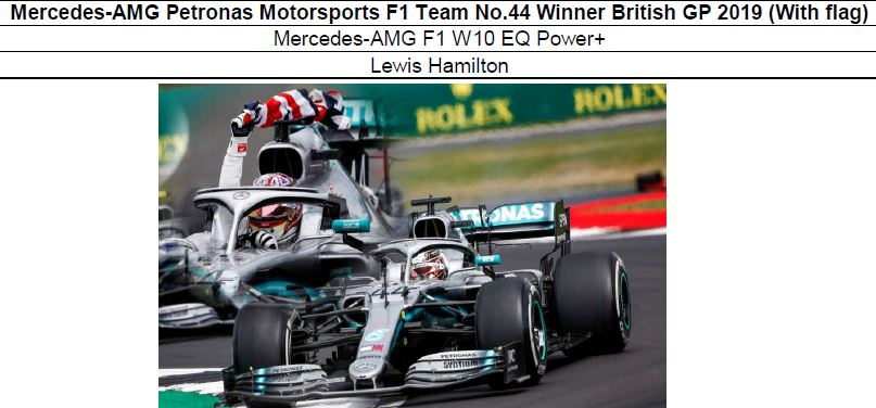 ◎予約品◎1/18 Mercedes-AMG Petronas Motorsports F1 Team No.44 Winner British GP 2019 (With flag) L.ハミルトン